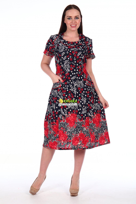 Увеличить - Платье короткий рукав (модель №67 трик)