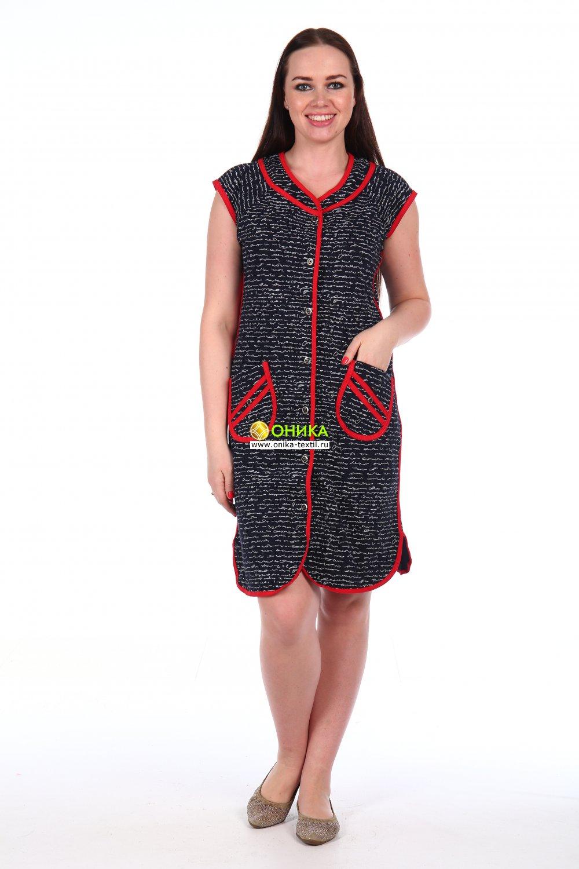 Халат на пуговицах мод. №100