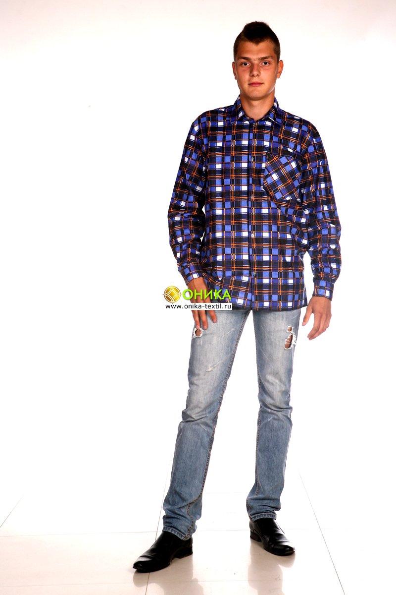 Сорочка мужская (модель №1, фланель)