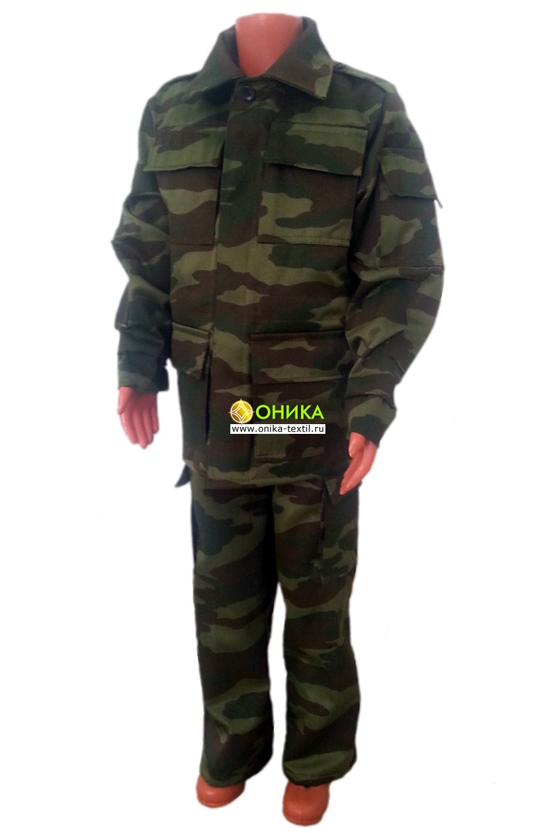 Костюм военно-полевой подростковый (флора)