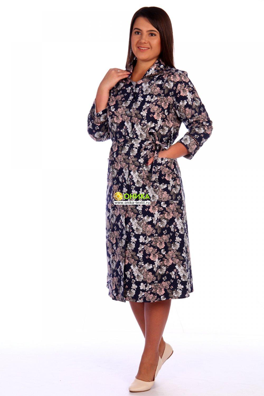 Халат на пуговицах мод. №9 фланель Китай