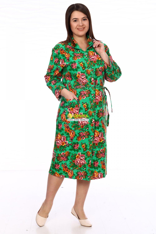 Халат на пуговицах мод. №9 грин