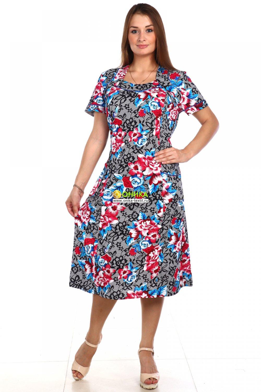 Платье короткий рукав (модель №67 трик)