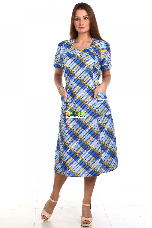 Платье короткий рукав (модель №67 бязь)