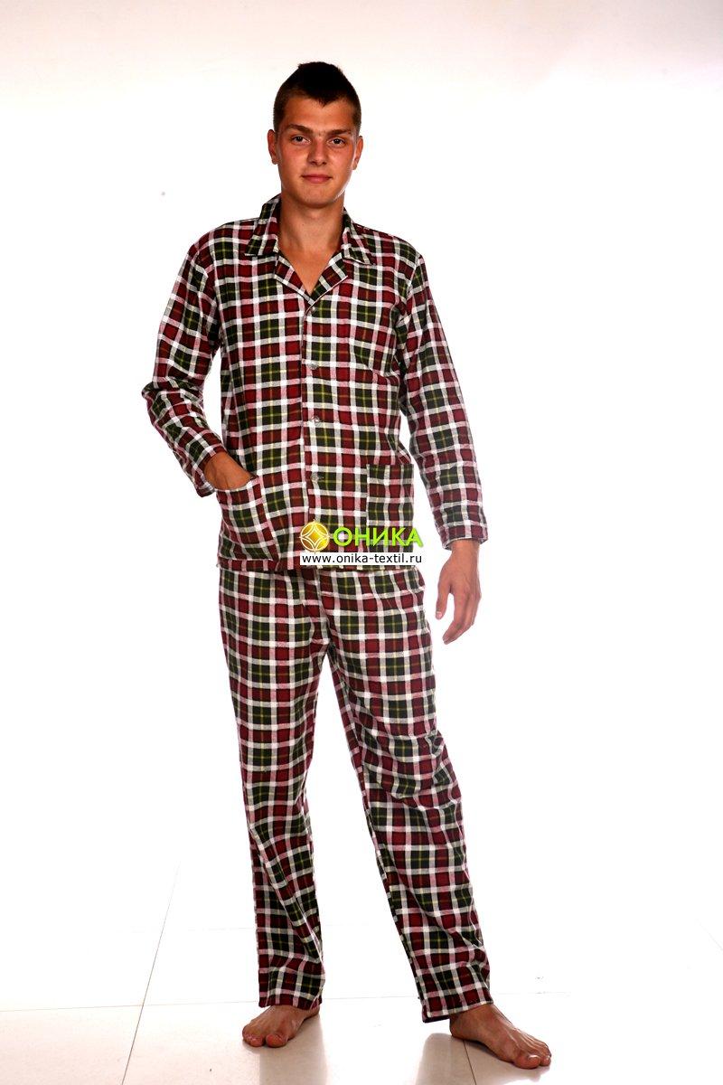 Увеличить - Пижама мужская (модель №4, фланель)
